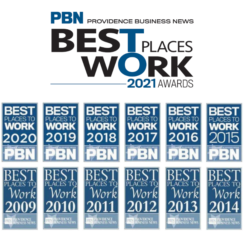 PBN Best Place to Work awards 2009 - 2021