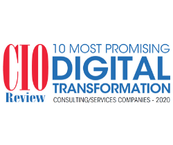 2020 CIO Review 10 Most Promising Digital Transformation Consulting/Services Companies award