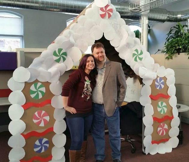 Edwina and Todd during the 2014 holiday season