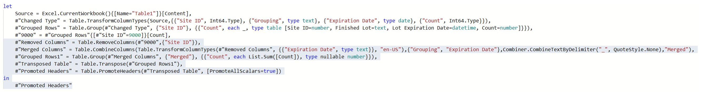 Copying code
