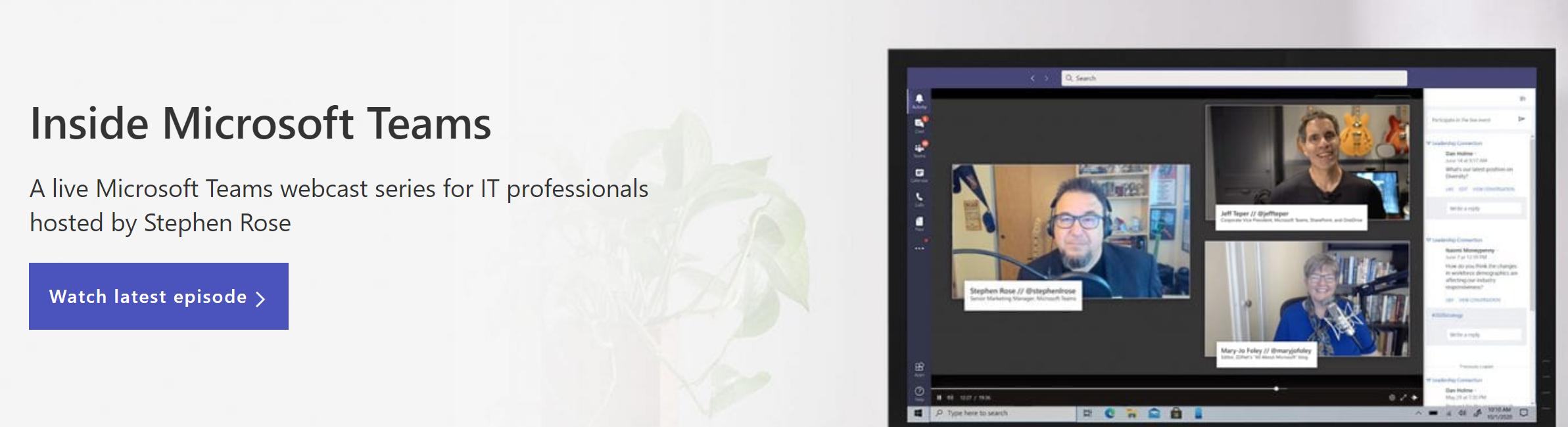 Inside Microsoft Teams webcast teaser